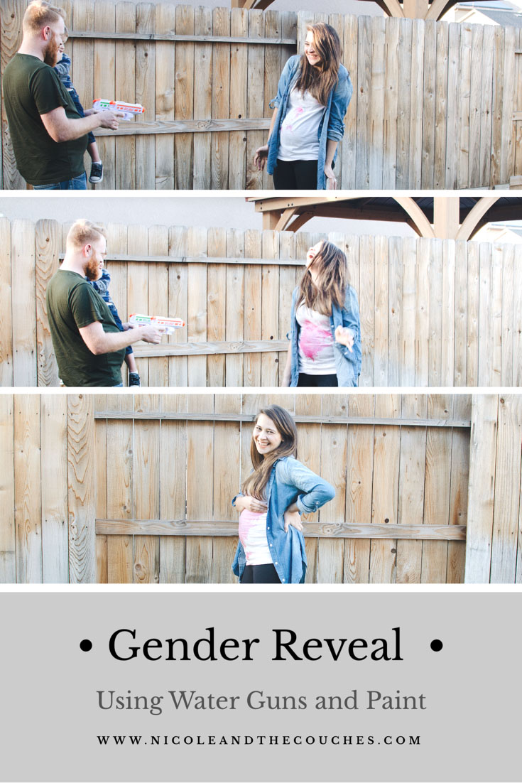 Do you want to find out your baby's gender that's fun for the whole family? All you need are water guns, some paint, some water, and a white shirt worn by someone! It will turn out to be one fun gender reveal